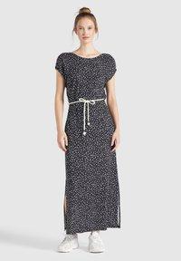 khujo - DOREEN - Maxi dress - schwarz-weiß gemustert - 0