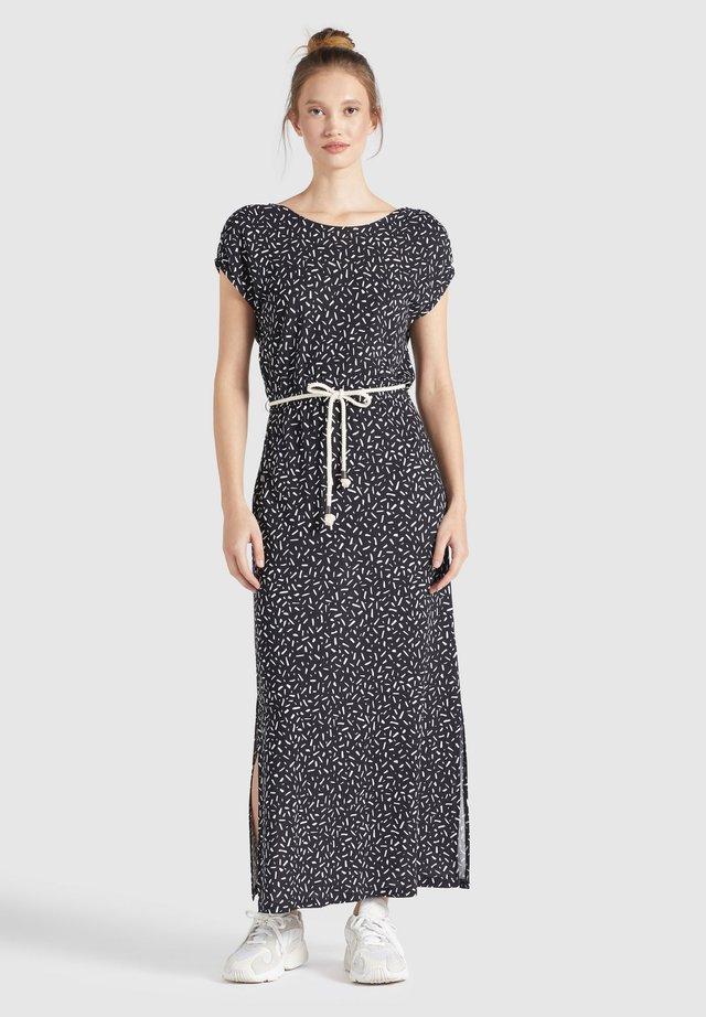 DOREEN - Vestito lungo - schwarz-weiß gemustert
