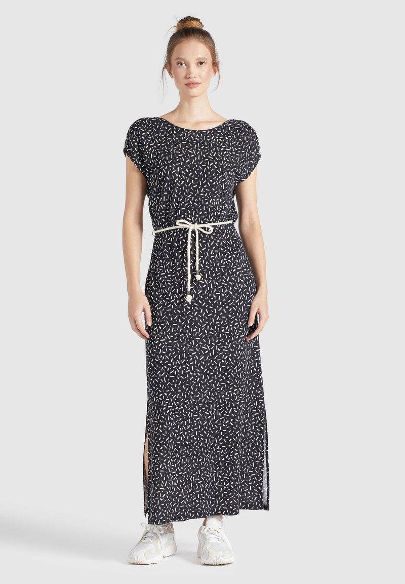 khujo - DOREEN - Maxi dress - schwarz-weiß gemustert