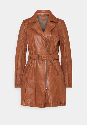 DENNA - Short coat - cognac