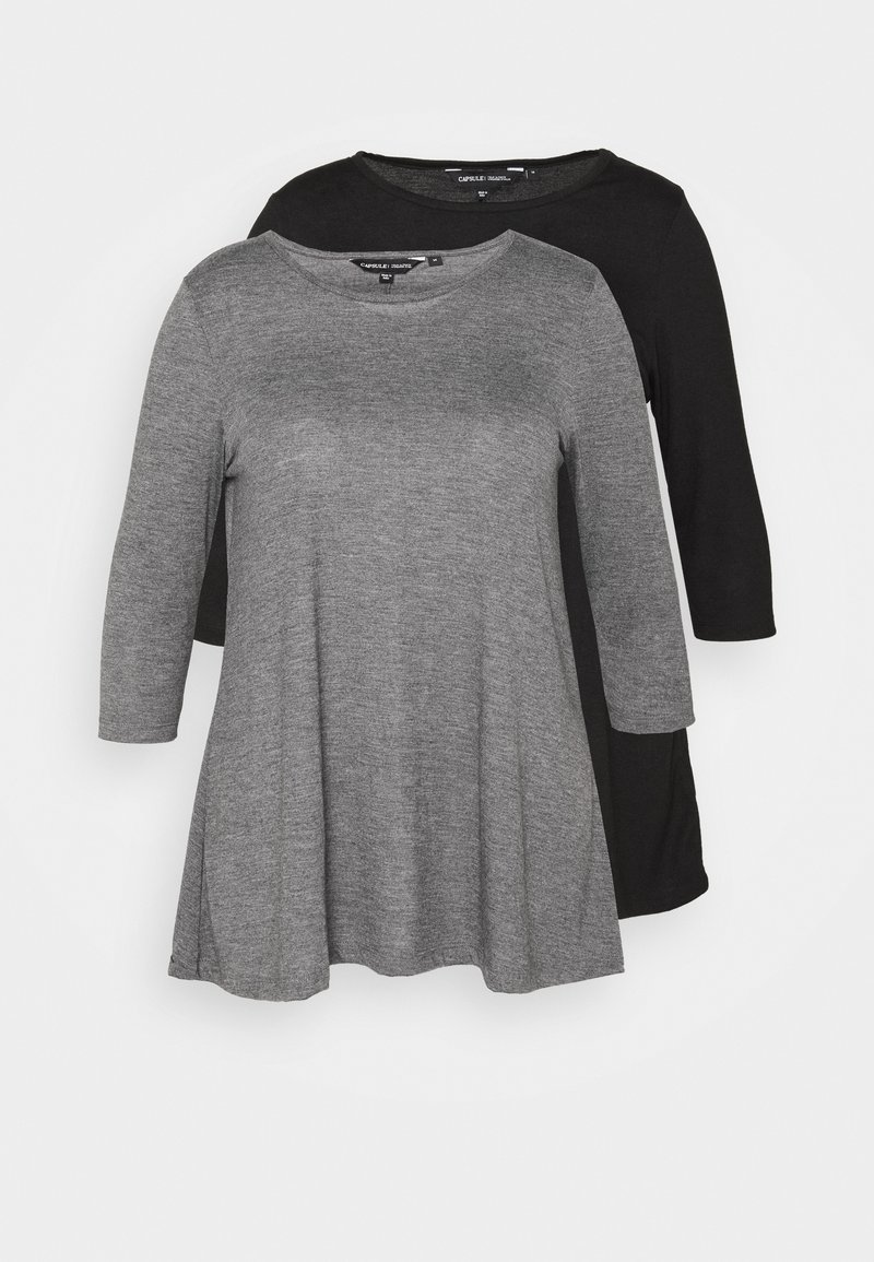 CAPSULE by Simply Be - SWING TUNICS 2 PACK - Blouse - mono