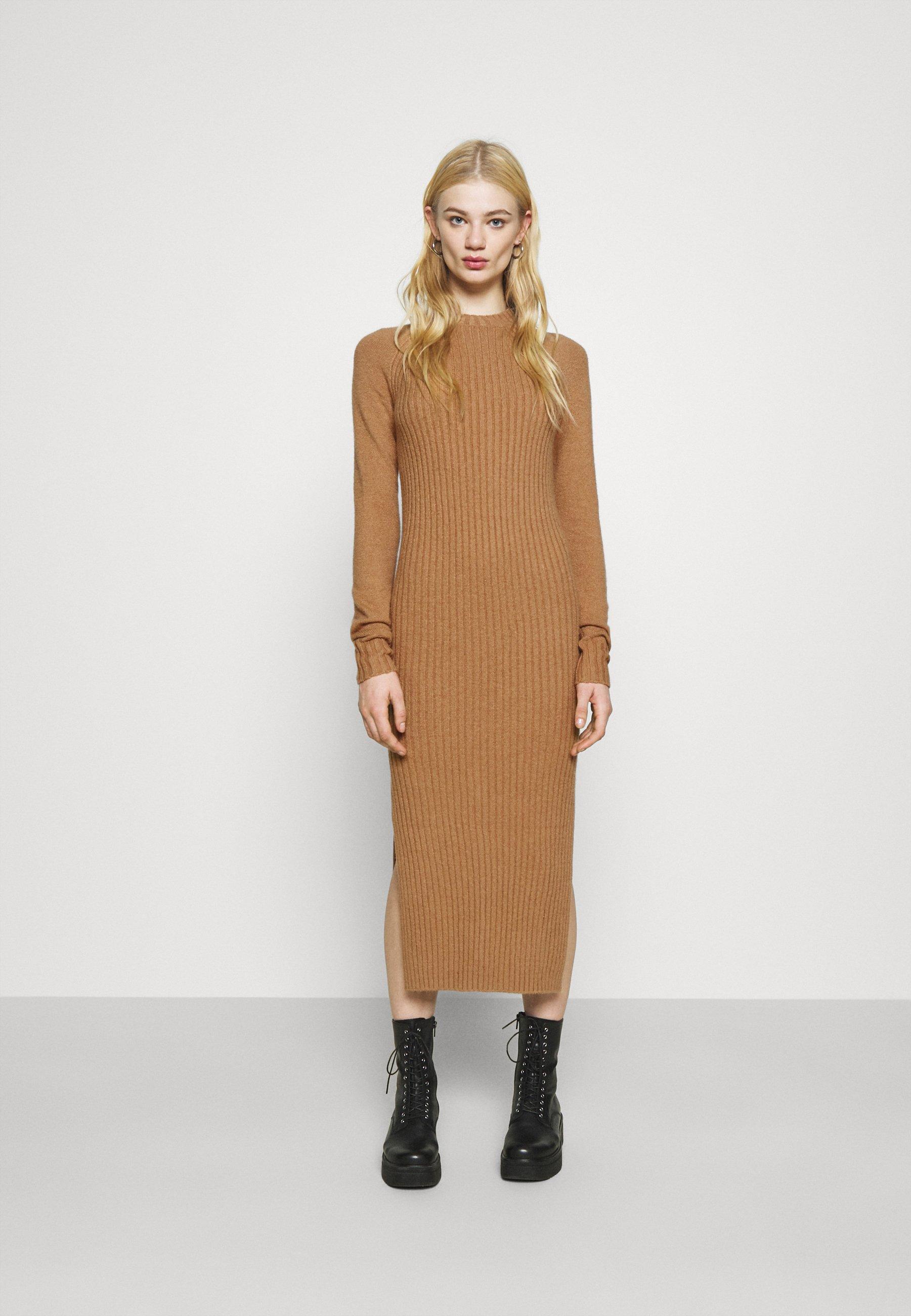 Women SWEATER DRESS MIDI - Jumper dress