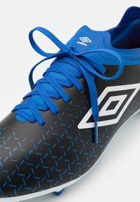 Umbro - VELOCITA V PREMIER FG - Kopačky lisovky - black/white/victoria blue - 5
