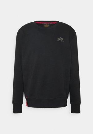 BASIC SMALL LOGO FOIL - Sweater - black/metalsilver