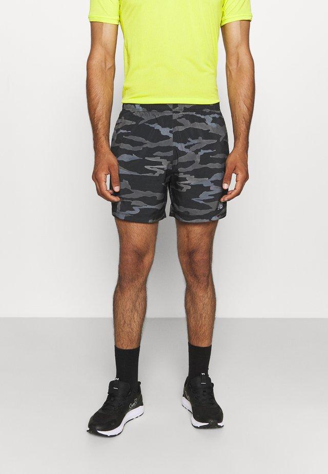 PRINTED ACCELERATE SHORT - Pantaloncini sportivi - black/grey