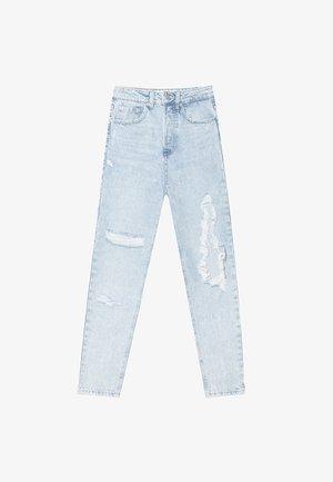 MIT SCHLITZEN  - Slim fit jeans - blue