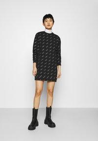 Calvin Klein Jeans - LOGO DRESS - Day dress - black - 1