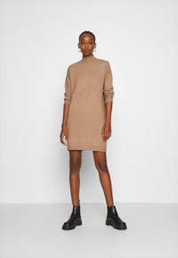 ONLY - ONLPRIME DRESS - Jumper dress - brownie melange - 1