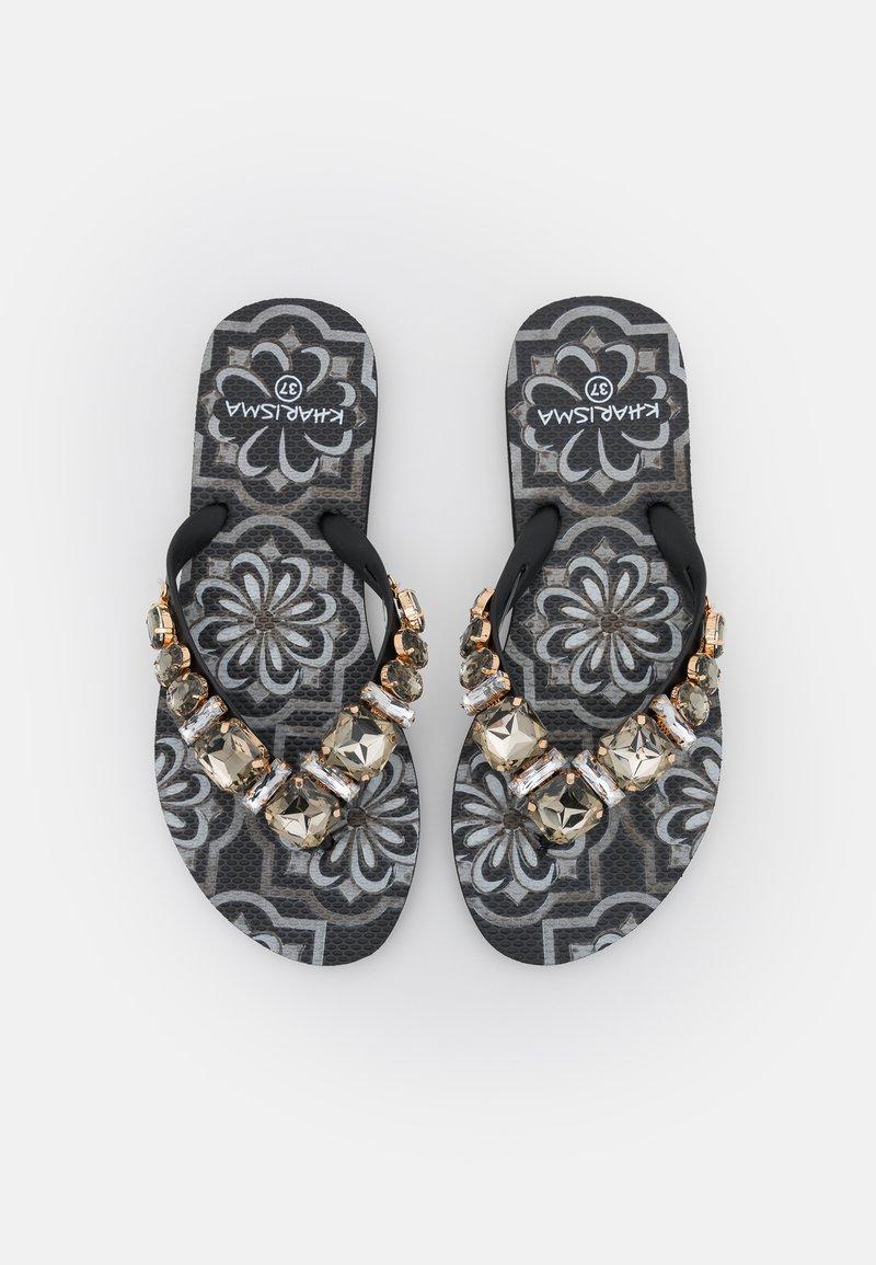 KHARISMA - T-bar sandals - nero/multicolor