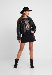 River Island - CATO JACKET - Leather jacket - black - 1