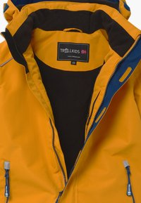 TrollKids - KIDS HOLMENKOLLEN SNOW JACKET PRO - Snowboardjakke - golden yellow/mystic blue - 3