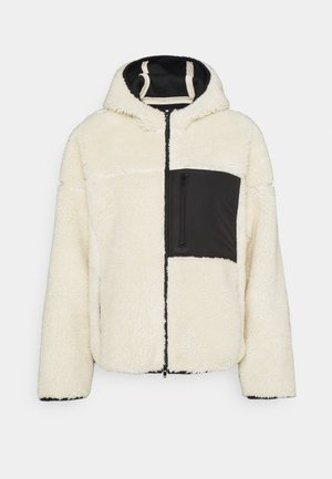 BONDED SPORTY JACKET HOOD - Zimní bunda - white