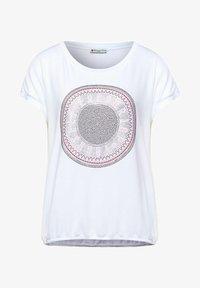 Street One - MIT STEINCHEN DEKO - Print T-shirt - weiß - 3