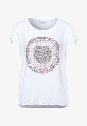 MIT STEINCHEN DEKO - Print T-shirt - weiß