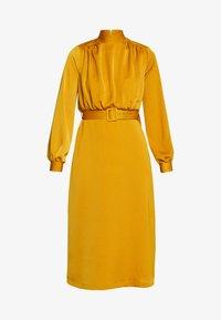 Closet - CLOSET HIGH NECK MIDI DRESS - Day dress - mustard - 4