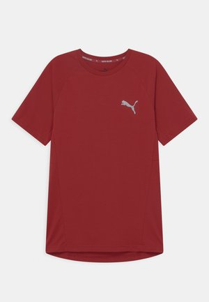 EVOSTRIPE TEE UNISEX - T-paita - intense red