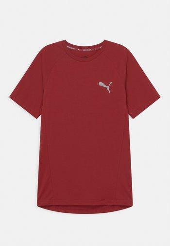 EVOSTRIPE TEE UNISEX - T-shirt basic - intense red