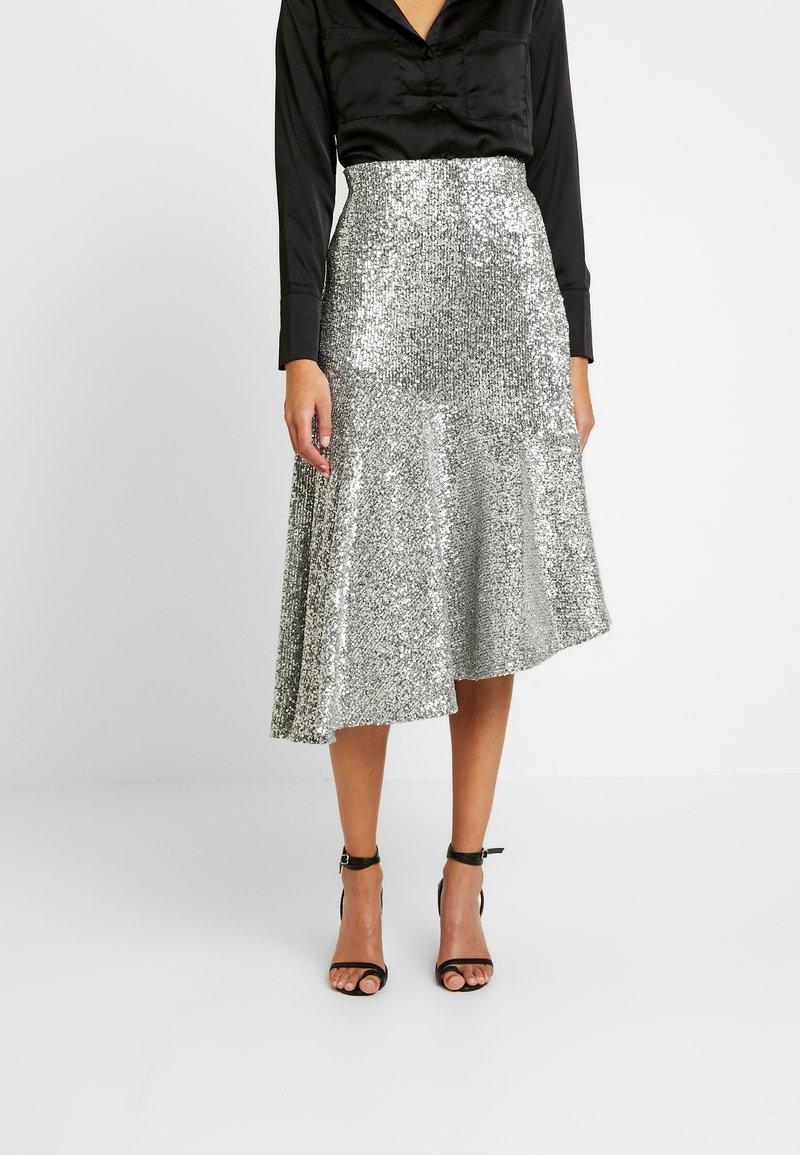 Monki - SKIRT - A-snit nederdel/ A-formede nederdele - silver