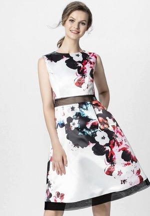 Sukienka koktajlowa - cream/multi-coloured