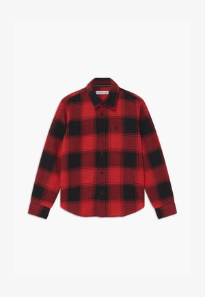 WINTER CHECK - Camisa - black/red