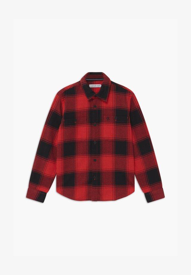 WINTER CHECK - Hemd - black/red