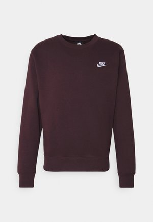 CLUB - Sweatshirt - mahogany/white