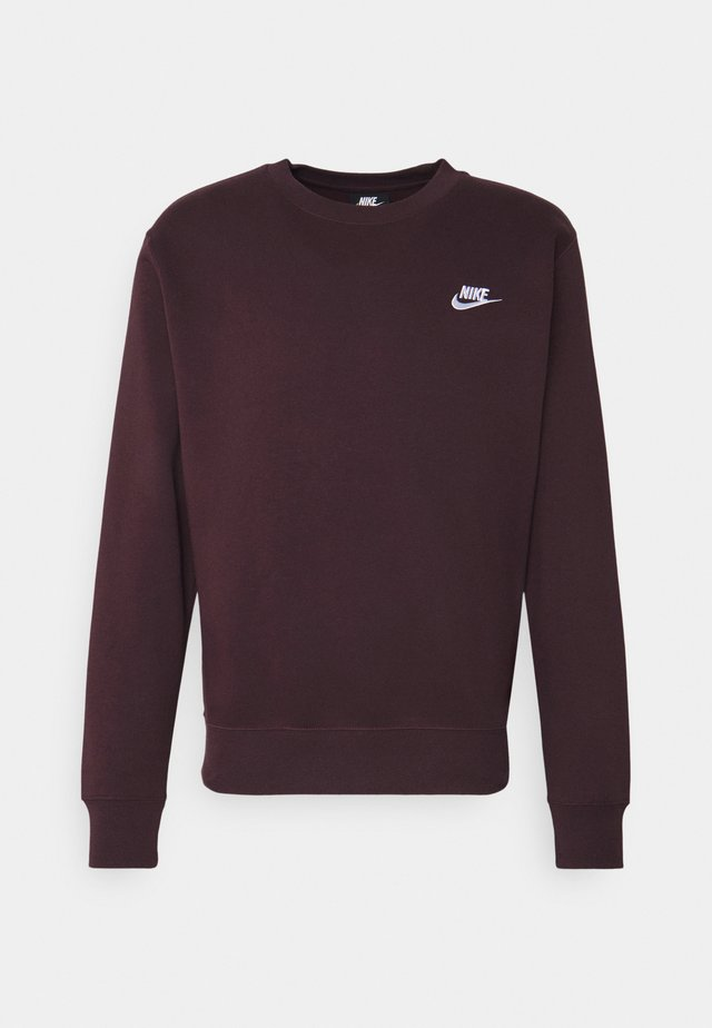 CLUB - Sweatshirt - mahogany/white