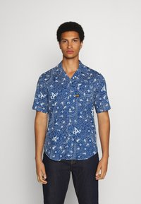 G-Star - BRISTUM 1PKT SERVICE STRAIGHT SHIRT S\S - Shirt - deep true blue batik - 0