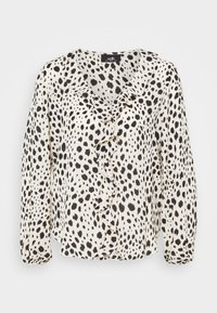 Wallis - NATURAL DALMATION BLOUSON RUFFLE TOP - Blouse - offwhite - 0