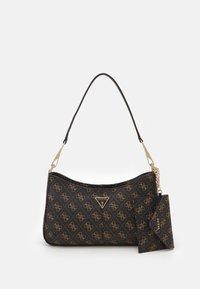 Guess - LAYLA TOP ZIP SHOULDER SET - Handbag - brown - 0
