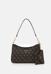 LAYLA TOP ZIP SHOULDER SET - Handbag - brown