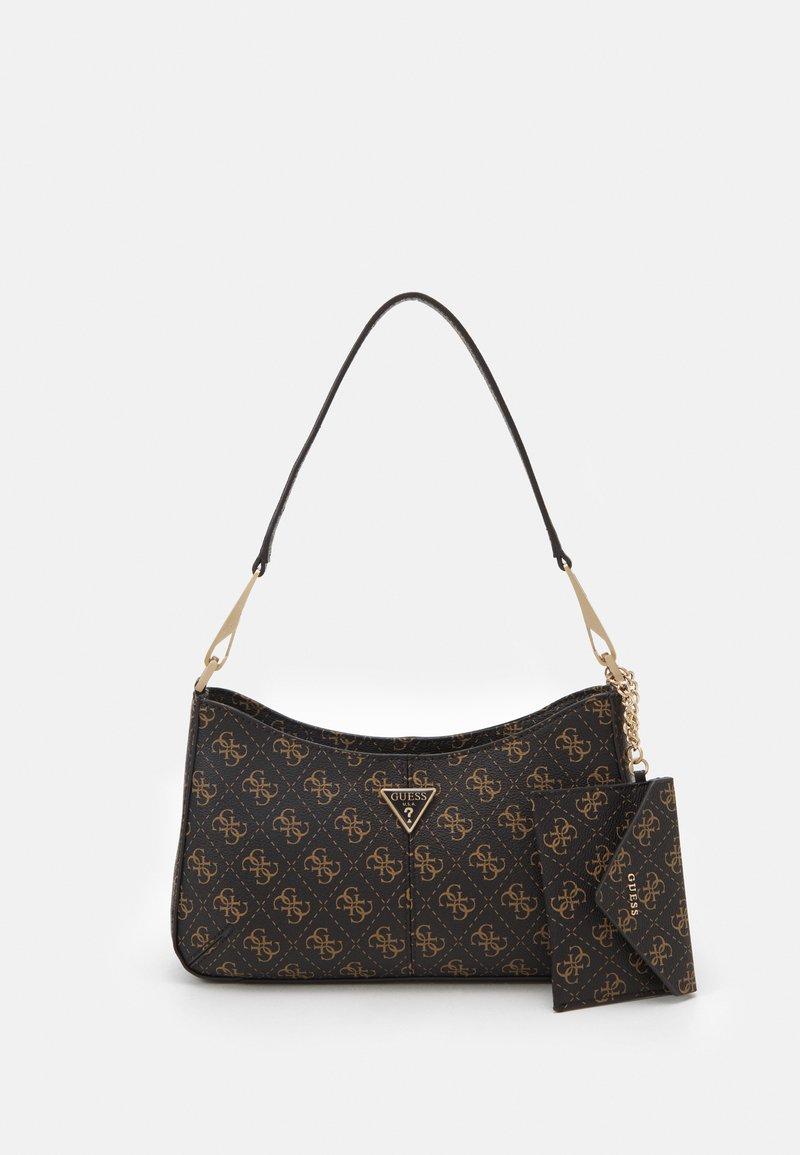 Guess - LAYLA TOP ZIP SHOULDER SET - Handbag - brown