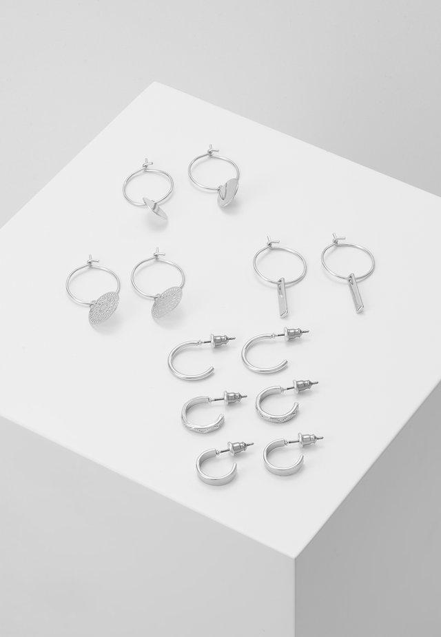 CALOWEN 6 PACK - Earrings - silver-coloured