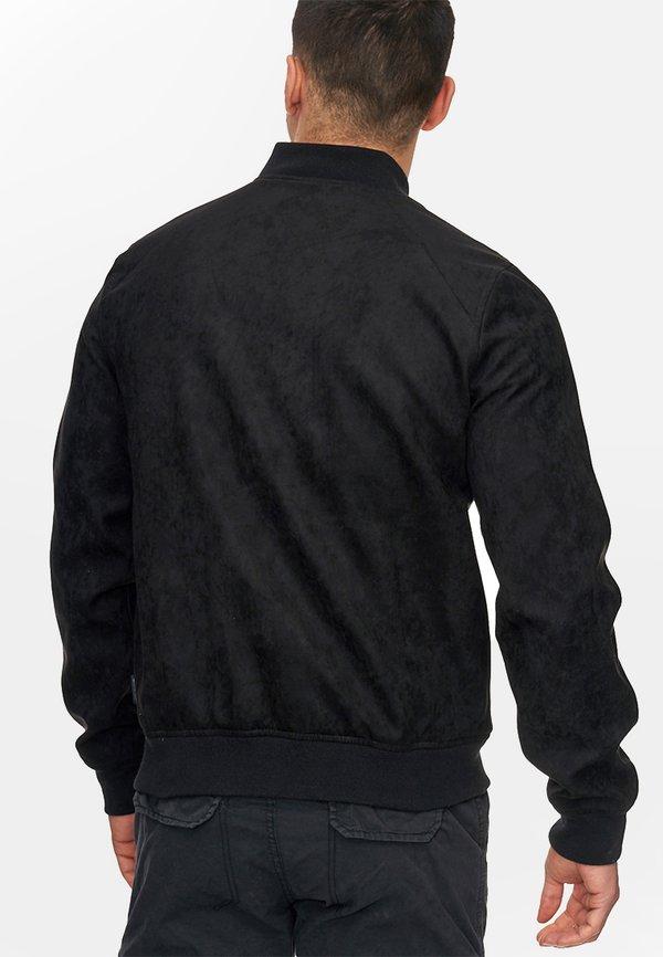INDICODE JEANS FORT WAYNE - Kurtka ze skÓry ekologicznej - black/czarny Odzież Męska CMQW
