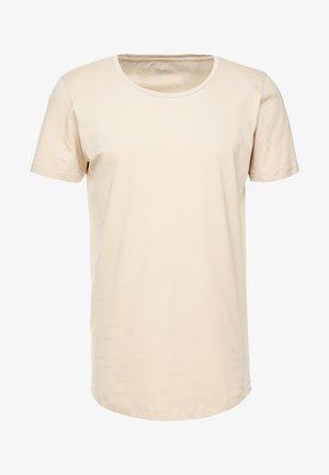 SHAPED TEE - T-shirt - bas - dust beige
