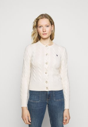 CARDIGAN LONG SLEEVE - Chaqueta de punto - cream