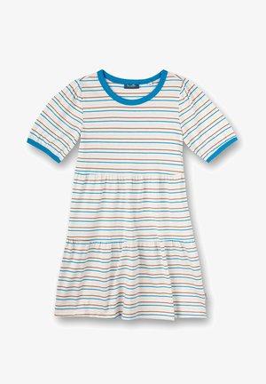 Jersey dress - offwhite/light blue