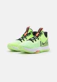 Nike Performance - LEBRON WITNESS 5 - Basketball shoes - lime glow/black/bright mango/white - 1