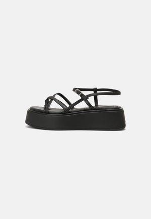 COURTNEY - T-bar sandals - black/black