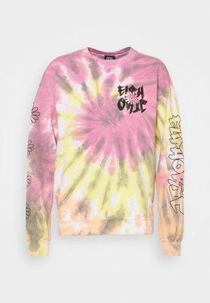 EUPHORIC CREWNECK - Sweatshirt - yellow/pink