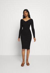 Even&Odd Petite - Shift dress - black - 0