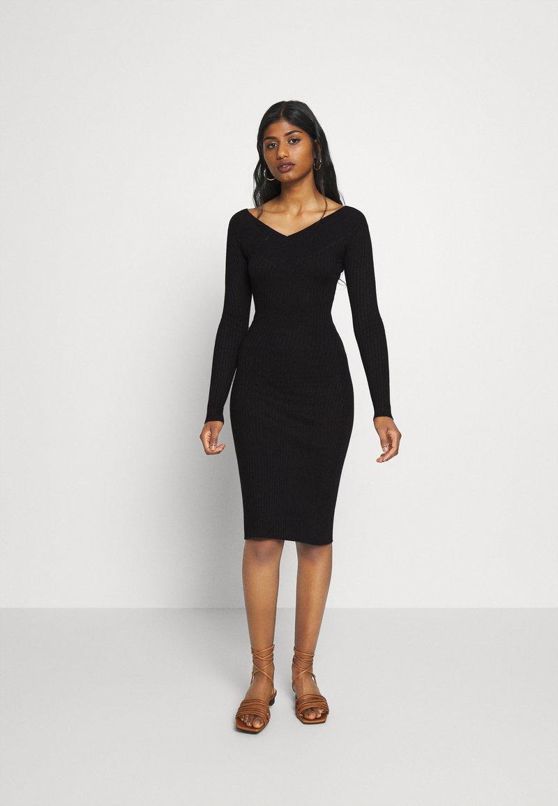 Even&Odd Petite - Shift dress - black
