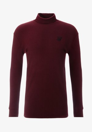 LONG SLEEVE BRUSHED TURTLE NECK - Jersey de punto - burgundy