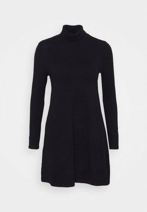 VMHAPPINESS ROLLNECK DRESS - Jumper dress - black
