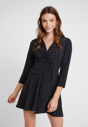 TWIST FRONT - Day dress - black