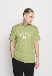 Makia - BRAND - Printtipaita - light green - 0