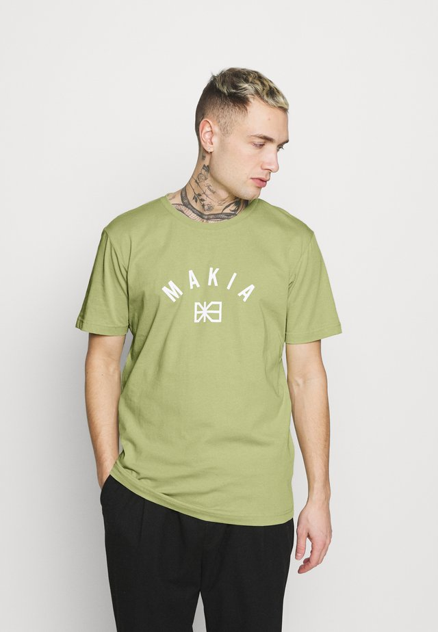 BRAND - Printtipaita - light green