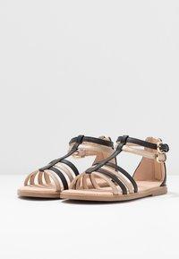 Geox - KARLY GIRL - Sandals - black/platinum - 3