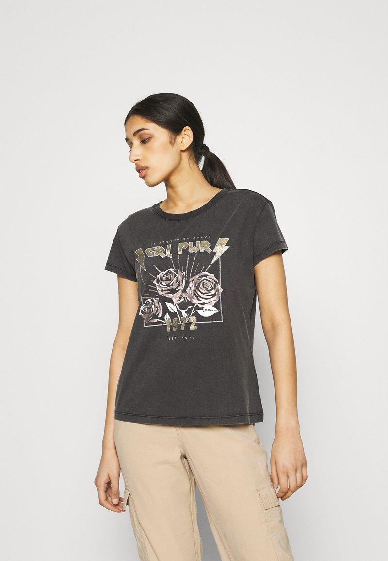 JDY - JDYFAROCK LIFE PRINT - Camiseta estampada - black