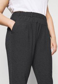 Kaffe Curve - KCJIA PANTS - Pantalon classique - dark grey ange - 4